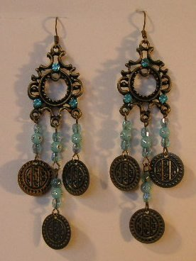 124(Inventory#) Fashion long dangling earrings