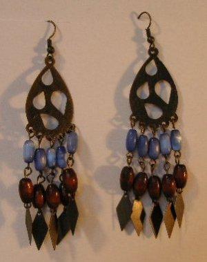 123(Inventory#) Fashion long dangling earrings