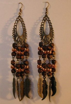 120(Inventory#) Fashion long dangling earrings