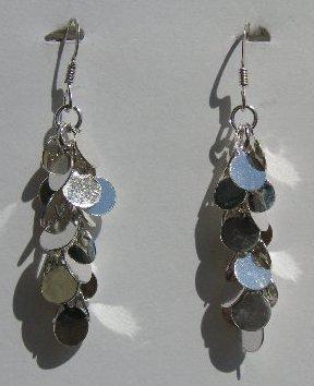 105(Inventory#) Custom design dangling earrings 100% silver