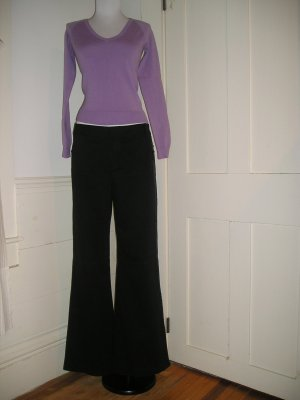 BANANA REPUBLIC MARTIN PANTS BLACK SEQUIN TUXEDO TALL LONG EVENING SIZE 10 M