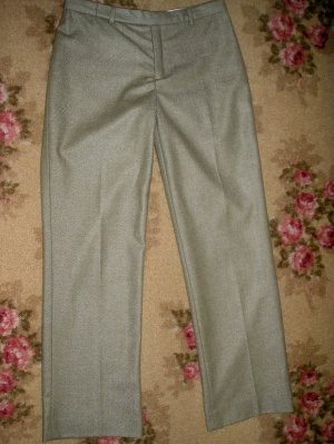 GAP WOOL PANTS SIZE 1 HERRINGBONE GREEN LOW WAIST