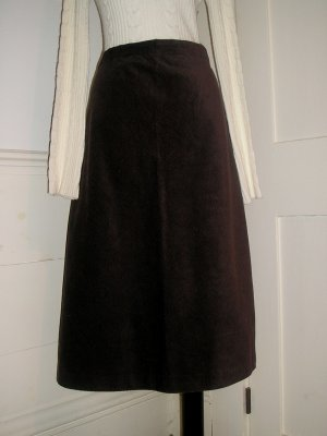 GAP SKIRT SIZE 16 BROWN CORDUROY CHOCOLATE