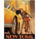 Meet Me in Manhattan DIY Paint by Numbers Kit Vintage American Poster