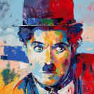 Charlie Chaplin Colorful Portrait DIY Paint by Numbers Kit Adults Color by Number Poster 40x50 Set