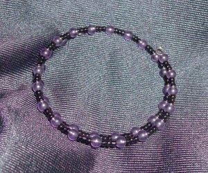 Amethyst Glass Bead Bracelet