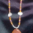 Amber Onyx Smooth Pendant Necklace