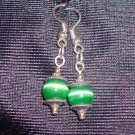 Emerald Tigers Eye Earrings