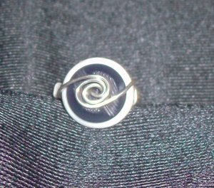 Wire Wrap Button Ring