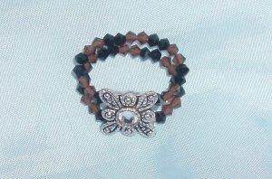 Brown/Black Swarovski Ring