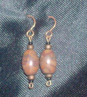Vintage Semi-Precious Gemstone Earrings