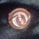 Brown Copper Wrapped Ring