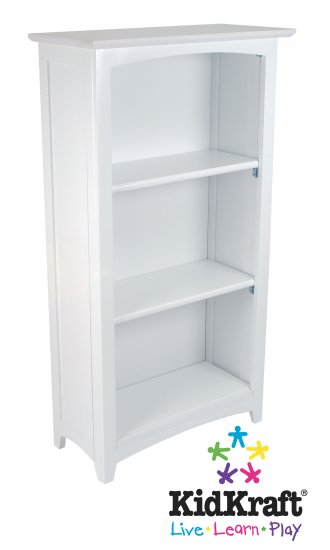 Avalon Tall Bookshelf - White Item # 14001