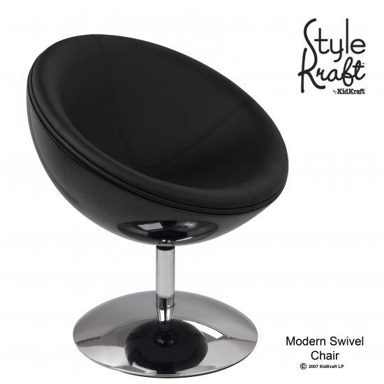 Modern Swivel Chair - Black Item # 00220