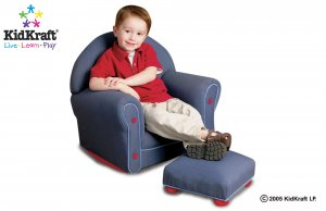 Upholstered Rocker w/Ottoman - Denim Item # 18621