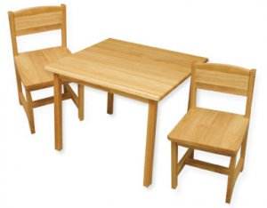 Aspen Table and Chair Set - Natural Item # 21221