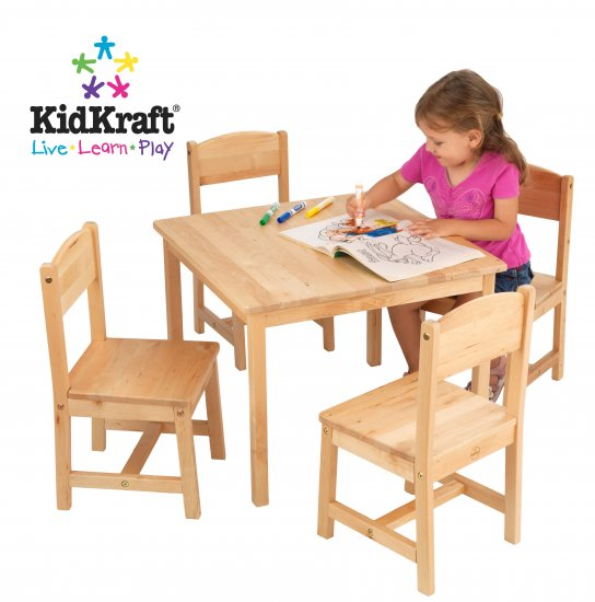Farmhouse Table and 4 Chairs Item # 21421