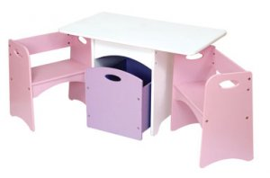 Table with Pastel Benches Item # 26162