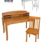 Avalon Desk with Hutch - Honey Item # 26706