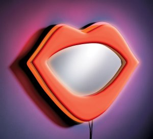 Neon Lips Wall Decor - Red Item # WB-NWM LIPS-R