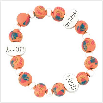 Don't Worry Be Happy Bracelet Item # 39098