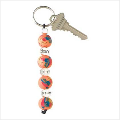 Don't Worry Be Happy Keychain Item # 39099