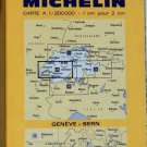 VTG  GENEVA - BERN SWITZERLAND  1973 Folded Road Map MICHELIN #23 COLLECTIBLE