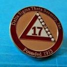 Delta Sigma Theta Sorority 17 PIN NEW W/WHITE BEADS