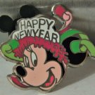 """RARE MICKEY MOUSE LIMITED EDITION OF 500 HAPPY NEW YEAR PIN (1 1/4"""" X 1 1/4"""")"""