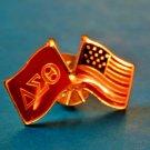 Delta Sigma Theta Sorority PATRIOTIC RICH ENAMELED PIN  NEW