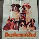 BEETHOVEN 2ND (VIDEO DEALER  40 X 27 POSTER!, 1990S) CHARLES GRODIN, BONNIE HUNT