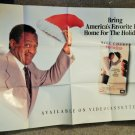 GHOST DAD   (VIDEO DEALER 40 X 27 POSTER!, 1990S)  BILL COSBY