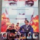 ,CHECKERED FLAG (VIDEO DEALER 24 X 18 POSTER!, 1990S) BILL CAMPBELL, AMANDA WYSS