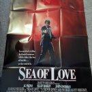 SEA OF LOVE (VIDEO DEALER 40 X 27 POSTER,1980S) AL PACINO, ELLEN BARKIN, RARE