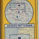 VTG ANVERS  GERMANY- ROTTERDAM  1972 Folded Road Map MICHELIN #1 COLLECTIBLE