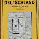 VTG  N GERMANY / E BELGIUM   1973 Folded Road Map MICHELIN #203 COLLECTIBLE