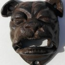 English Bulldog Bottle Opener Rustic Cast Iron Wall Mount Bar Man Cave
