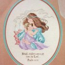 PDF FILE MOTHER & CHILD CHILDREN ARE A GIFT FROM THE LORD CROSS STITCH PATTERN