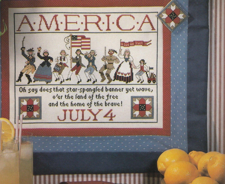 PDF FILE A PRIDE OF PATRIOTS AMERICA JULY 4 CROSS STITCH PATTERN