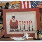 PDF FILE  Patriotic LAND OF FREE UNCLE SAM Cross Stitch pattern
