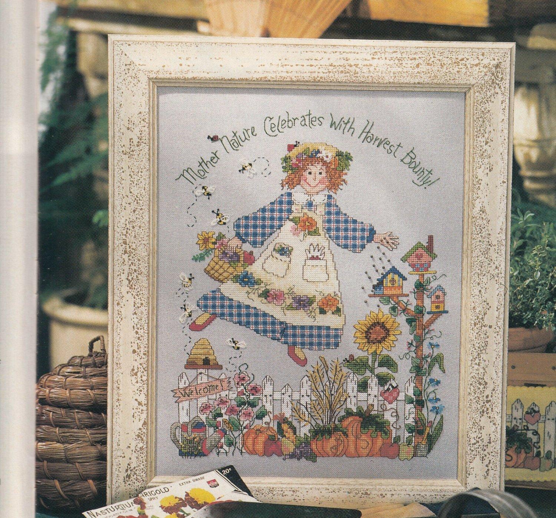 PDF FILE MOTHER NATURE Cross Stitch Needlework pattern