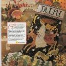 PDF FILE  O HOLY NIGHT CHRISTMAS STOCKING CROSS STITCH PATTERN