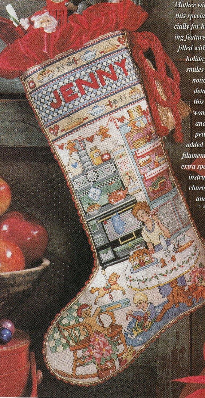 PDF FILE VINTAGE CHRISTMAS HEIRLOOM STOCKING CROSS STITCH PDF PATTERN