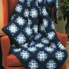 PDF FILE  OLD FASHIONED BLUE P0PC0RN CIuster FIowers Granny Afghan Crochet Pattern instruc