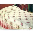 PDF FILE Vintage 1950s ROSE Bedspread Afghan Crochet PatternINSTRUCTIONS .