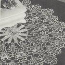 VINTAGE Crochet PATTERN for Wild Rose Doily. INSTRUCTION ONLY