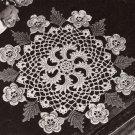 PDF FILE VINTAGE Crochet PATTERN Irish Rose Flower Doily Centerpiece Pinwheel Pin