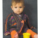 VINTAGE KNITCOL BABY CARDIGAN TO FIT BABY SIZE 3,(6,9,12,24) MONTH PATTERN