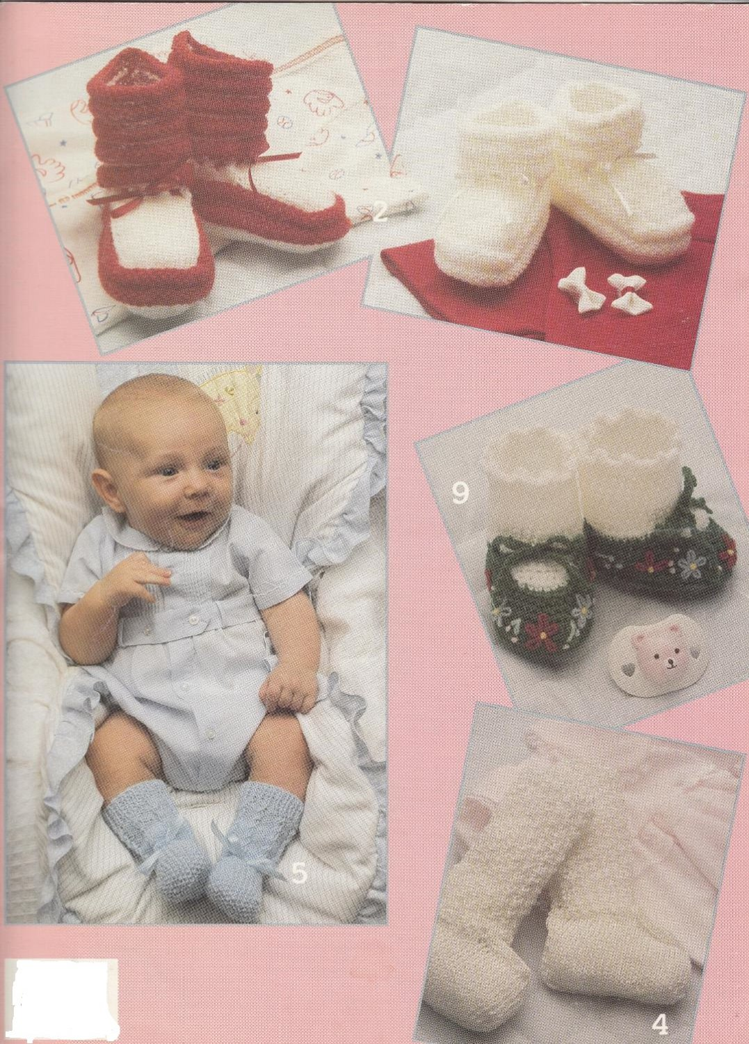 PDF FILE 8 DESIGNS TO KNIT AND CROCHET VINTAGE BABY BOOTIES PATTERNS