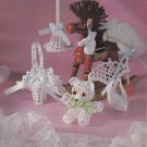 PDF FILE VICTORIAN DESIGN FOR BABY SHOWER (IT'A GIRL!!!)CROCHET ORNAMENTS PATTERNS